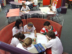 Picture of Students working in learning centre