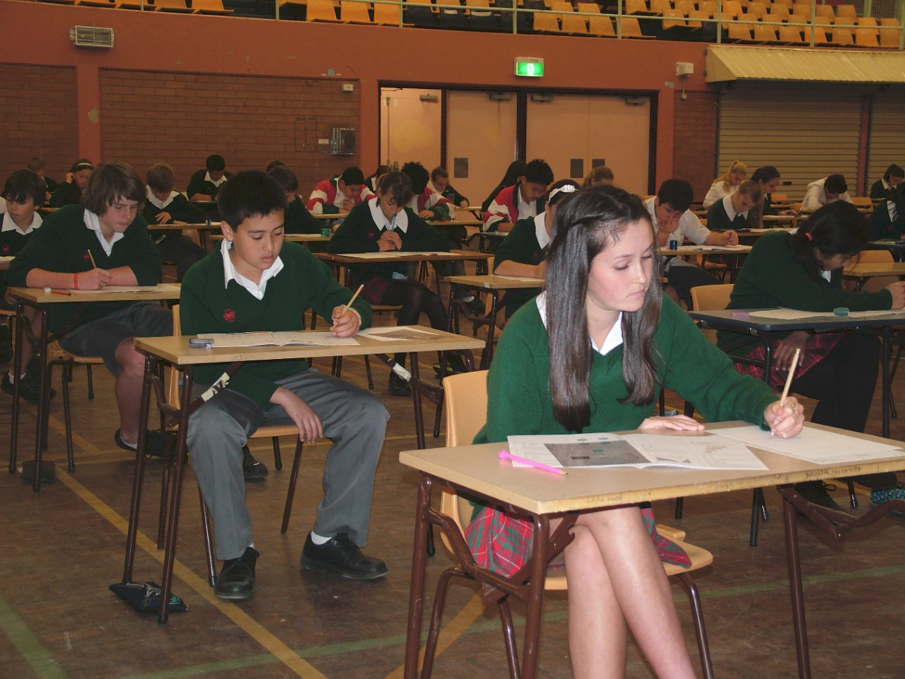 Students attempting the annual 数学 competition